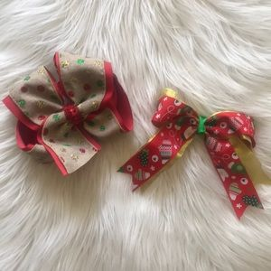 Christmas bow bundle with red top surprise slime!
